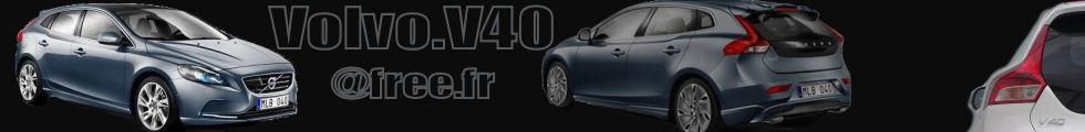Bannière d'accueil du site http://volvo.v40.free.fr/, consacré à la Volvo V40